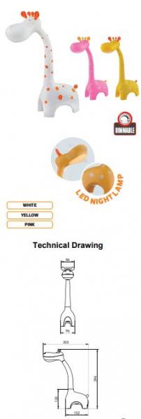 Lampa de masa LED pentru copii, SLC 6 W, intensitatea luminii reglabila [2]