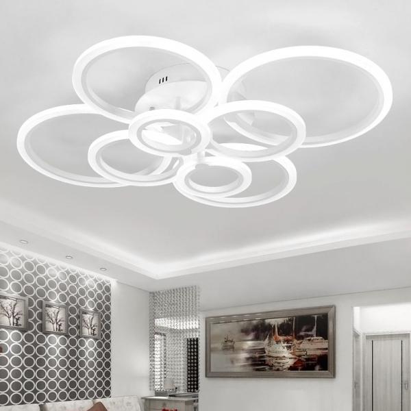 Resigilat ieftin Lustra LED Circle Design 8 SLC0005 patrata cu telecomanda [1]