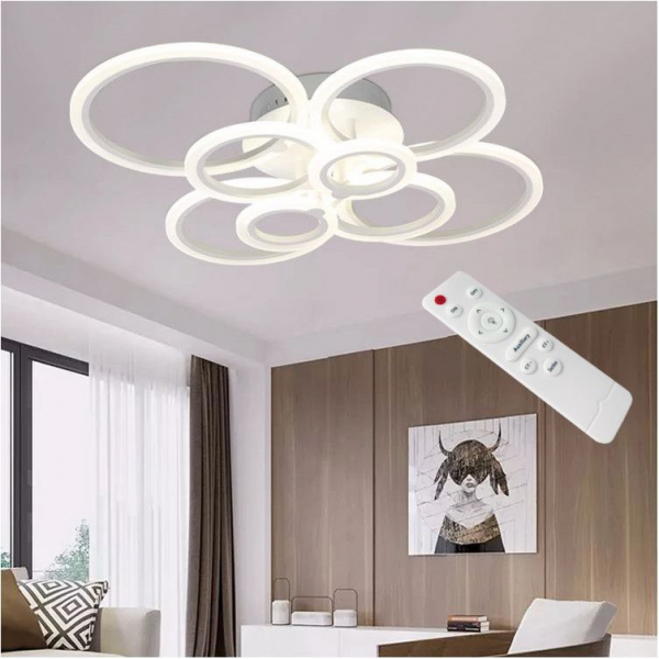 Resigilat ieftin Lustra LED Circle Design 8 SLC0005 patrata cu telecomanda [3]
