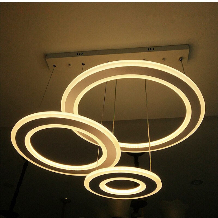 Lustra LED Circle Suspendata Numva 3 cu Telecomanda [1]