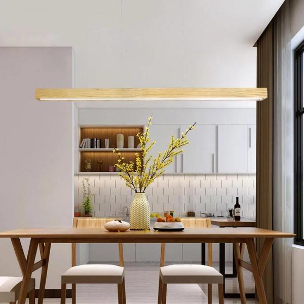 Lustra led dining din lemn [2]