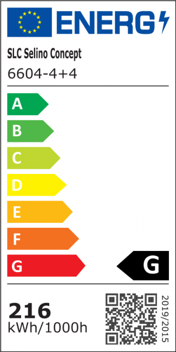 Lustra LED integrat SLC Selino Concept Quadrato 4+4, 108-216W, cu aplicatie telefon, telecomanda, lumina calda/neutra/rece, intensitate reglabila, 59 cm, Alb [1]