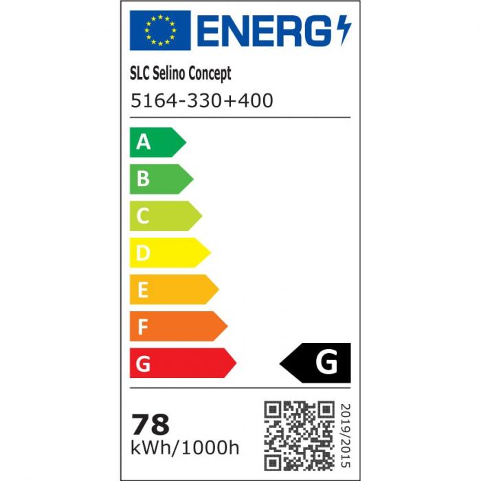 Lustra LED integrat SLC Selino Concept Rondo 1+A, , 39-78W, cu aplicatie telefon, telecomanda, lumina calda/neutra/rece, intensitate reglabila, 55 cm, Alb [1]