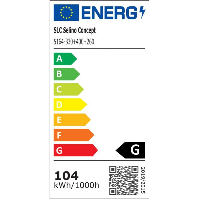 Lustra LED integrat SLC Selino Concept Rondo 2+A, 52-104W, cu aplicatie telefon, telecomanda, lumina calda/neutra/rece, intensitate reglabila, 55 cm, Alb [1]