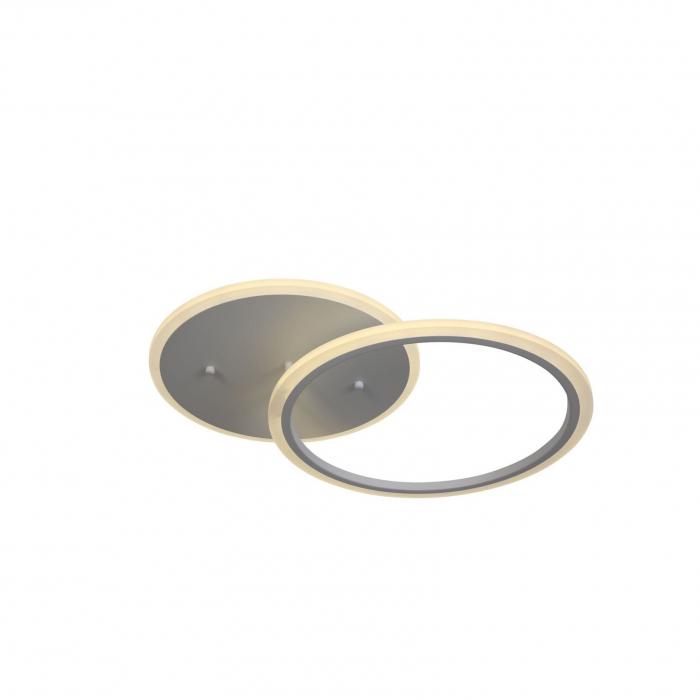Lustra LED integrat SLC Selino Concept Rondo 1+A, , 39-78W, cu aplicatie telefon, telecomanda, lumina calda/neutra/rece, intensitate reglabila, 55 cm, Alb [0]