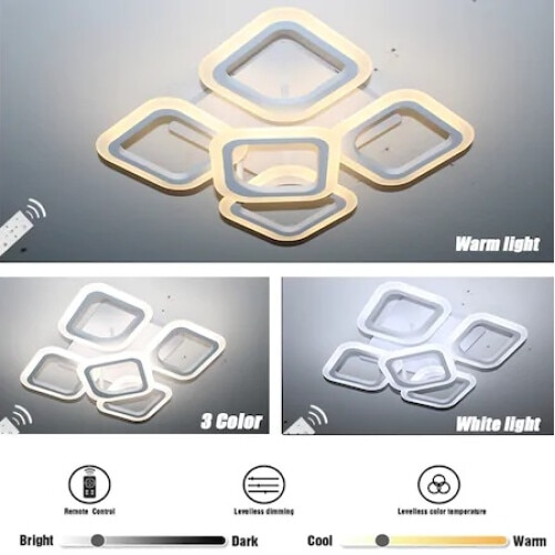 Lustra LED SLC Square Design Acril Exterior [5]