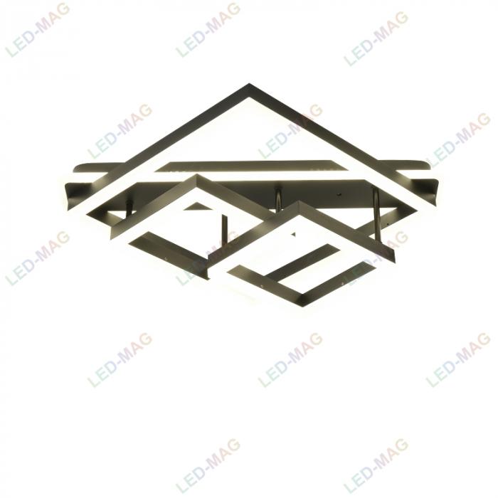 Lustra LED Numva Square black cu Telecomanda [2]