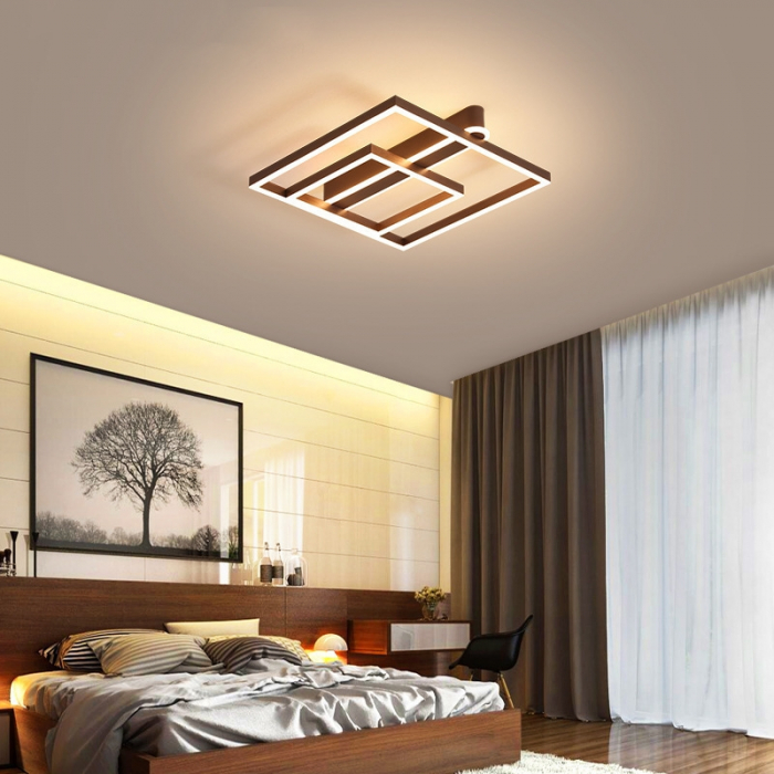 Lustra LED Square Numva 2+1 cu Telecomanda [0]