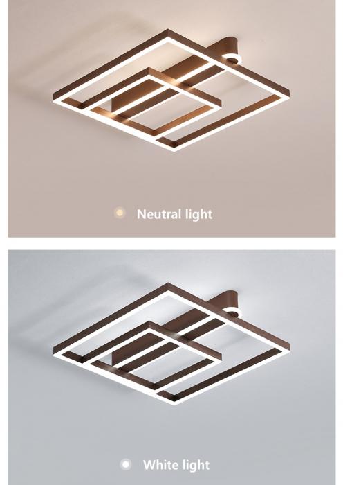 Lustra LED Square Numva 2+1 cu Telecomanda [4]