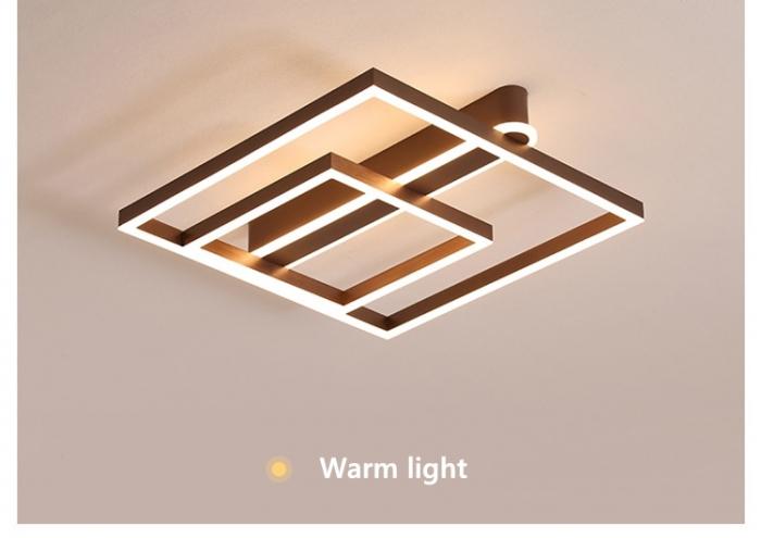 Lustra LED Square Numva 2+1 cu Telecomanda [3]