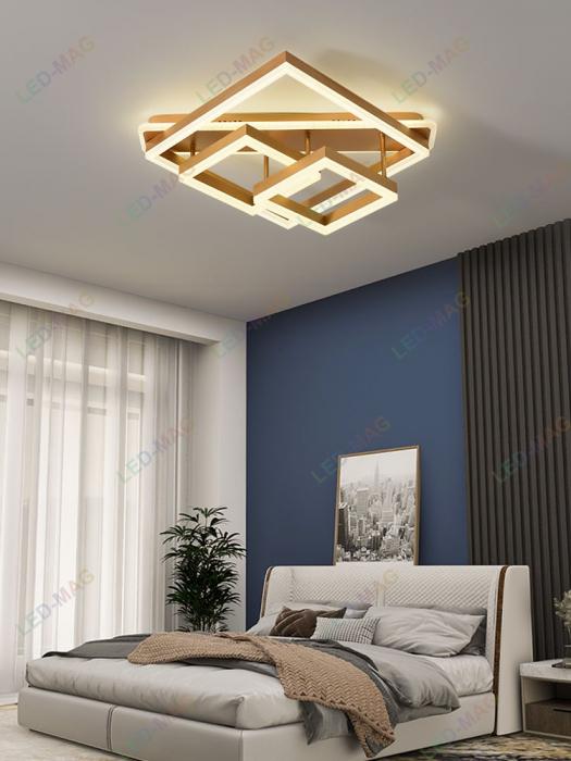 Lustra LED Numva Square Gold cu Telecomanda [0]