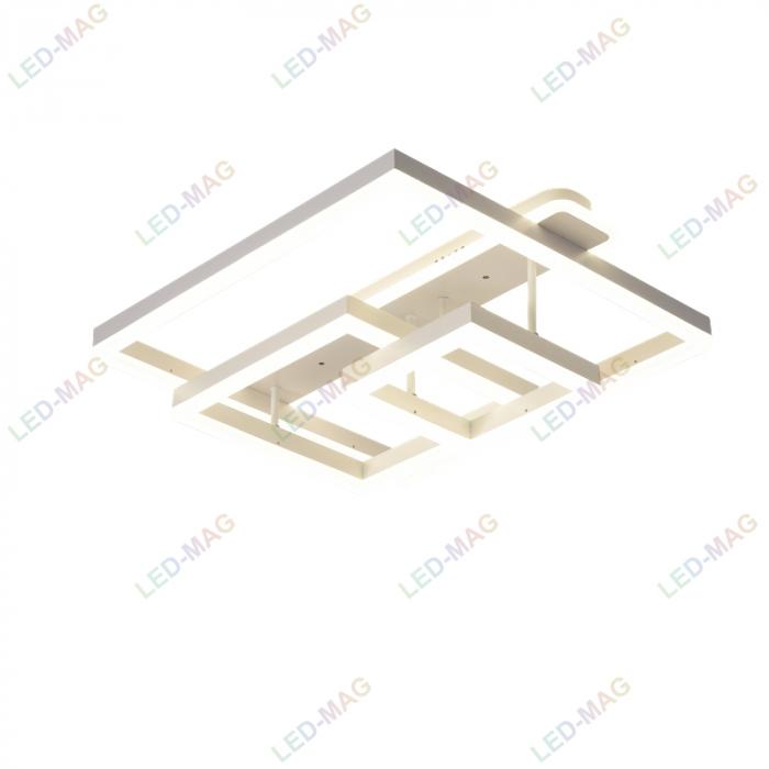 Lustra LED Numva Square Alba 3+1 cu Telecomanda [2]