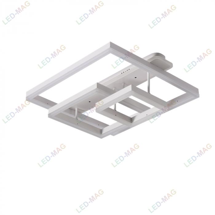 Lustra LED Numva Square Alba 3+1 cu Telecomanda [4]