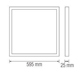 Panou LED Incastrabil SLC Turkuaz 32W [1]