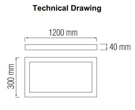 Panou LED aplicat SLC Linda 36 W [1]