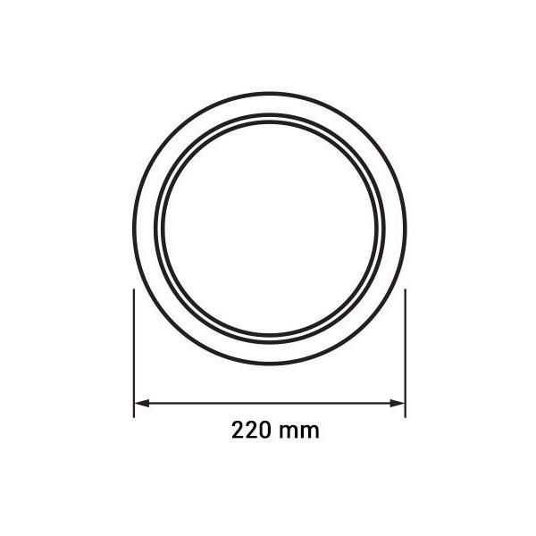 Aplica Led 18W rotunda [1]