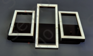 Lustra led SLC Monza Dreptunghiulara cu telecomanda, intensitate reglabila, lumina calda, neutra, rece [1]