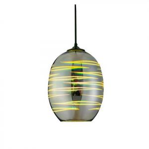 Pendul Sticla 3D, Oval, SLC Laser, E27 [0]