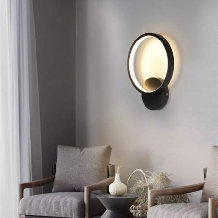 Aplica perete LED Circle Design Neagra [0]