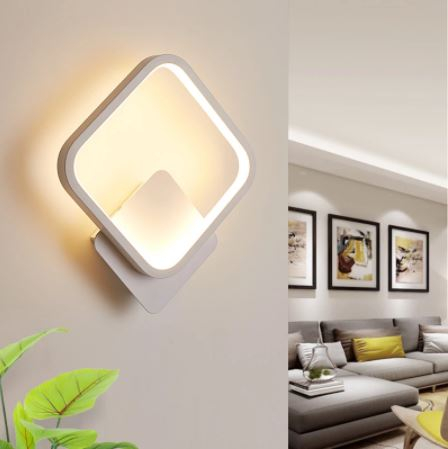 Aplica perete LED New Square Design Alba