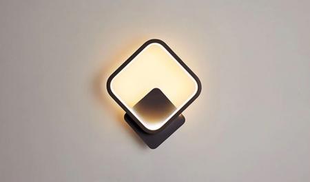 Aplica perete LED Square Design Neagra