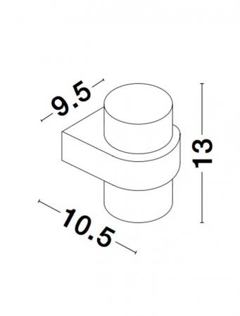 Aplica perete rotunda exterior 12 W [4]