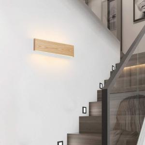 Aplica led perete lemn slim townhall 52 CM [0]