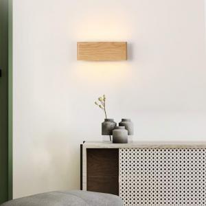 Aplica led perete lemn slim townhall [0]