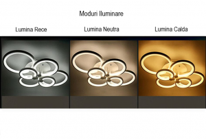 Lustra led circle design dreptunghiulara 6 cercuri SLC [3]