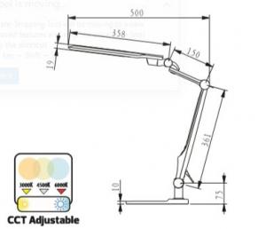 Lampa birou LED Ebru SLC 10W [4]