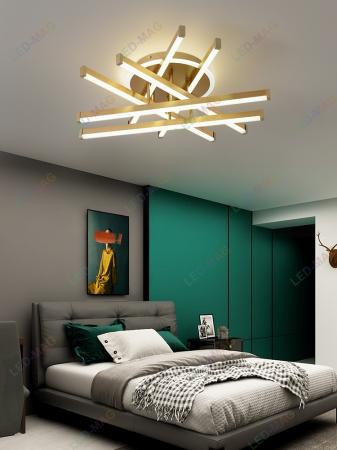 Lustra LED Aria Circle Gold SLC [0]