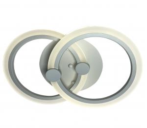 Lustra LED Circle Design 2 Surse Alb cu Telecomanda, lumina calda/ neutra/ rece si Intensitate reglabila, 55 cm, Alb
