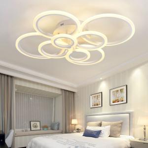 Resigilat ieftin Lustra LED Circle Design 8 SLC0005 patrata cu telecomanda [0]