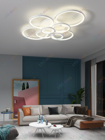 Lustra LED Circle Design 8 Cercuri cu telecomanda [0]