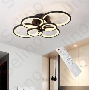Lustra LED Circle Design, SLC, Dreptunghiulara 6 Coffee cu telecomanda [1]