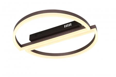 Lustra Led 2 Semicircle Coffe SLC Selino Concept  cu terlecomanda intensitate reglabila si 3 tipuri de lumina calda/rece/neutra