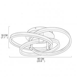 Lustra LED Circle Numva 2+1 cu Telecomanda [3]