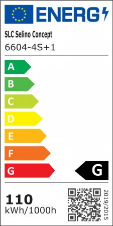 Lustra LED integrat SLC Selino Concept Quadrato 4+1, 76-110W, cu aplicatie telefon, telecomanda, lumina calda/neutra/rece, intensitate reglabila, 39 cm, Alb [1]