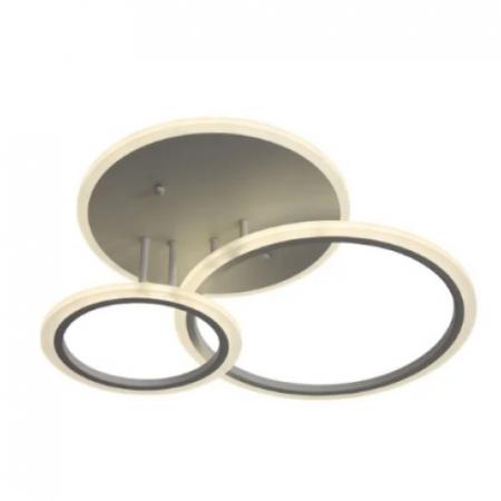 Lustra LED integrat SLC Selino Concept Rondo 2+A, 52-104W, cu aplicatie telefon, telecomanda, lumina calda/neutra/rece, intensitate reglabila, 55 cm, Alb