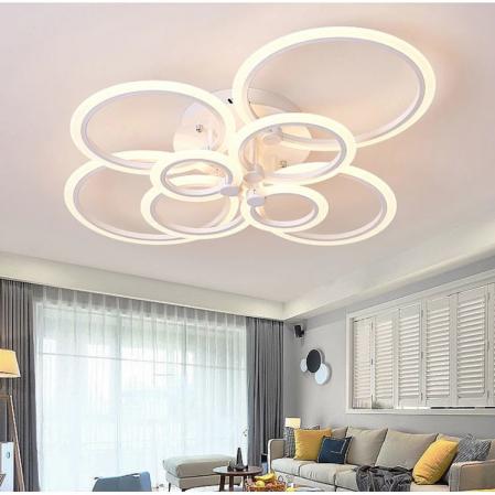 Lustra LED integrat SLC Selino Concept Rondo 2x4, 104-208W, cu aplicatie telefon [0]