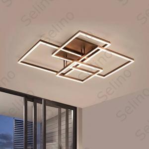 Lustra LED Square Numva 2+2 cu Telecomanda [1]