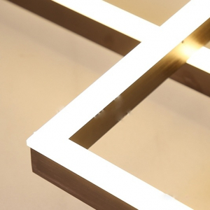 Lustra LED Square Numva 2+1 cu Telecomanda [1]