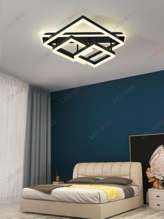 Lustra LED Numva Square black cu Telecomanda [0]