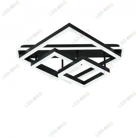 Lustra LED Numva Square black cu Telecomanda [1]