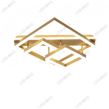 Lustra LED Numva Square Gold cu Telecomanda [2]
