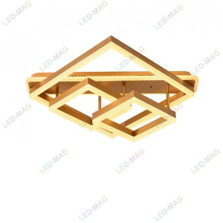 Lustra LED Numva Square Gold cu Telecomanda [3]