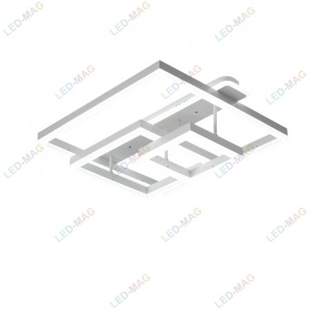 Lustra LED Numva Square Alba 3+1 cu Telecomanda [1]