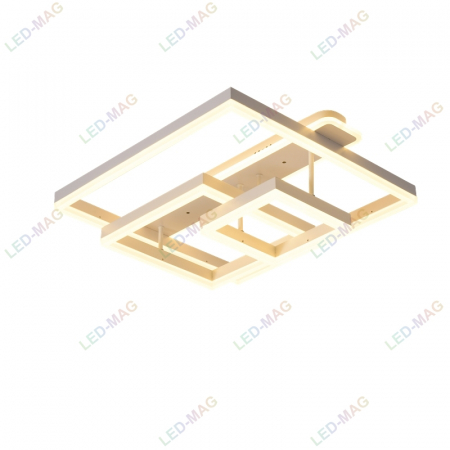 Lustra LED Numva Square Alba 3+1 cu Telecomanda [3]