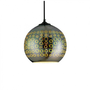 Pendul Sticla 3D, Sferic, SLC Radian, E27 [0]