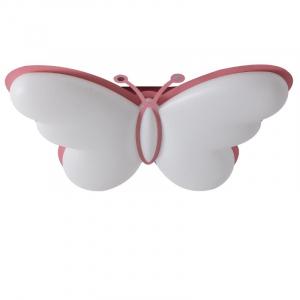 Plafoniera led camera copil  roz forma fluturas cu telecomanda [0]